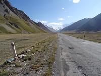 Laatste kilometers in Tadzjikistan