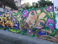 Veel streetart in Lissabon.