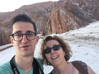 Selfie in maanlandschap