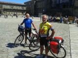 aangekomen in Santiago de Compostela