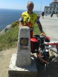 Het 0,00 km-punt bij Kaap Finisterre