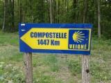 nog te rijden afstand vanaf Veigné