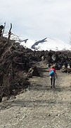 20160910_152938  Dorine op weg naar de lava