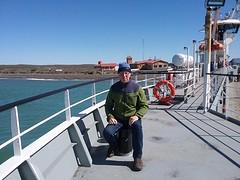 20161017_115607  Zef op veerboot naar Vuurland