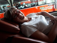 187. Dorine in sleeping bus
