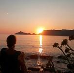 Zonsondergang meditatie Corfu