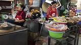 Vleeshouwsters op de Dong Ba markt