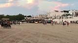 In Rocío geen verharde straten, er ligt overal zand voor de paarden.