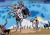 Muurschildering van de 2 helden