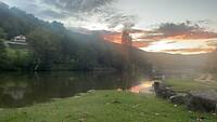 Dag 13, zonsonder over de Lot aan de camping