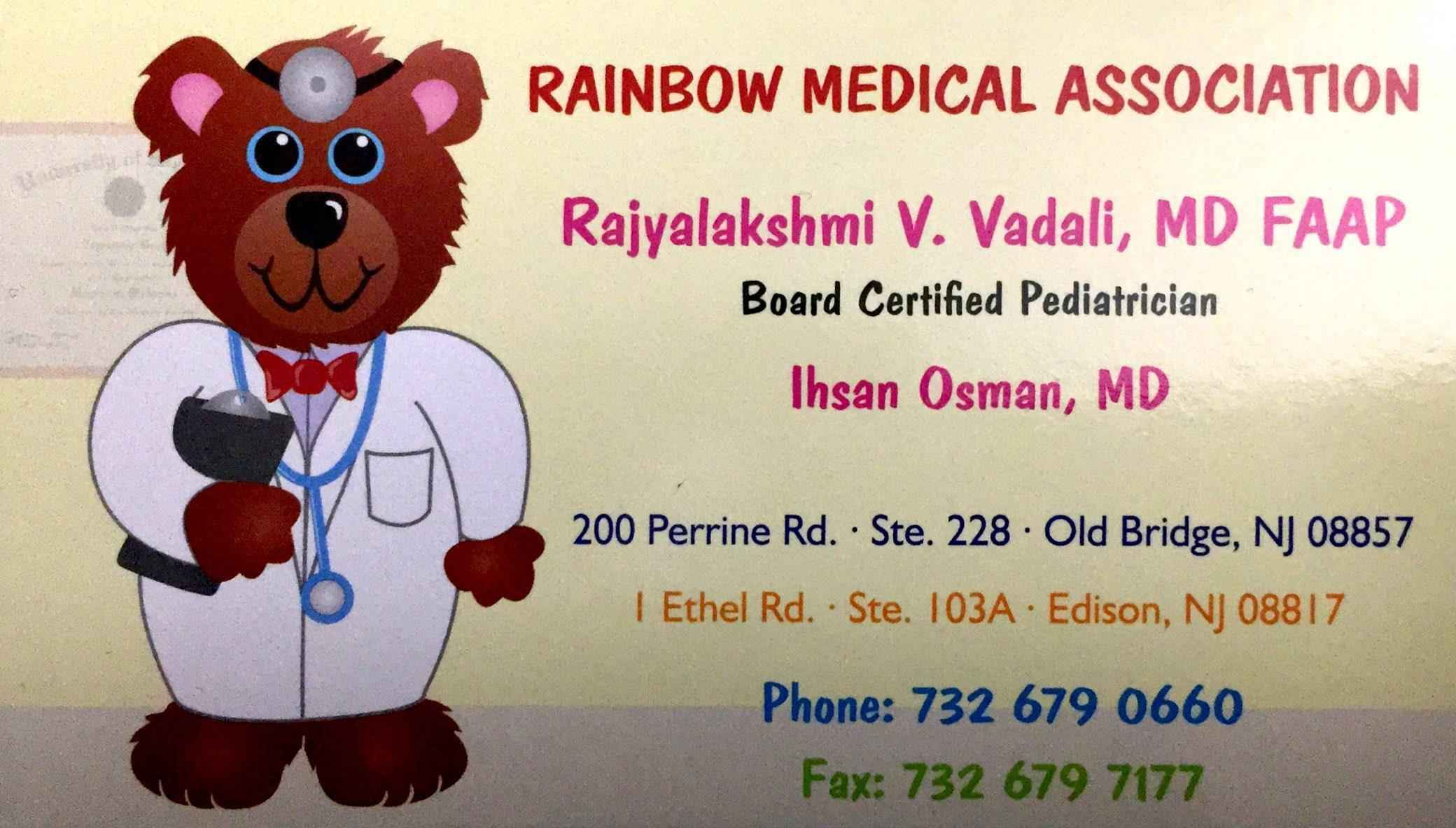 Dr. Rajyalakshmi Vadali - Rainbow Medical Association (732) 679-0660