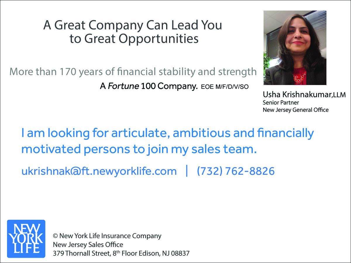 Usha Krishnakumar, LLM, Senior Partner, New Jersey General Office