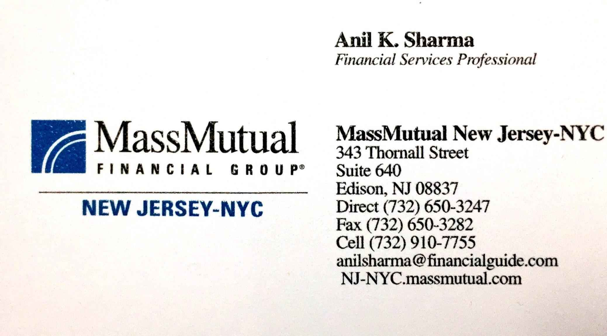 Anil K. Sharma,  MassMutual New Jersey - NYC