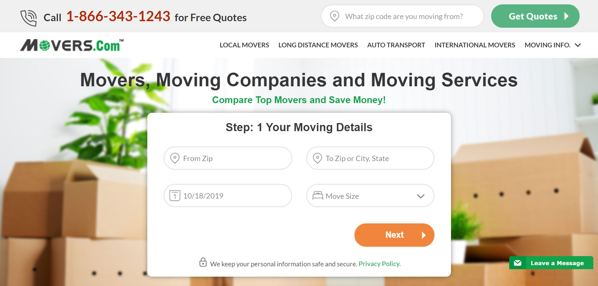 Movers.com For all your moving needs