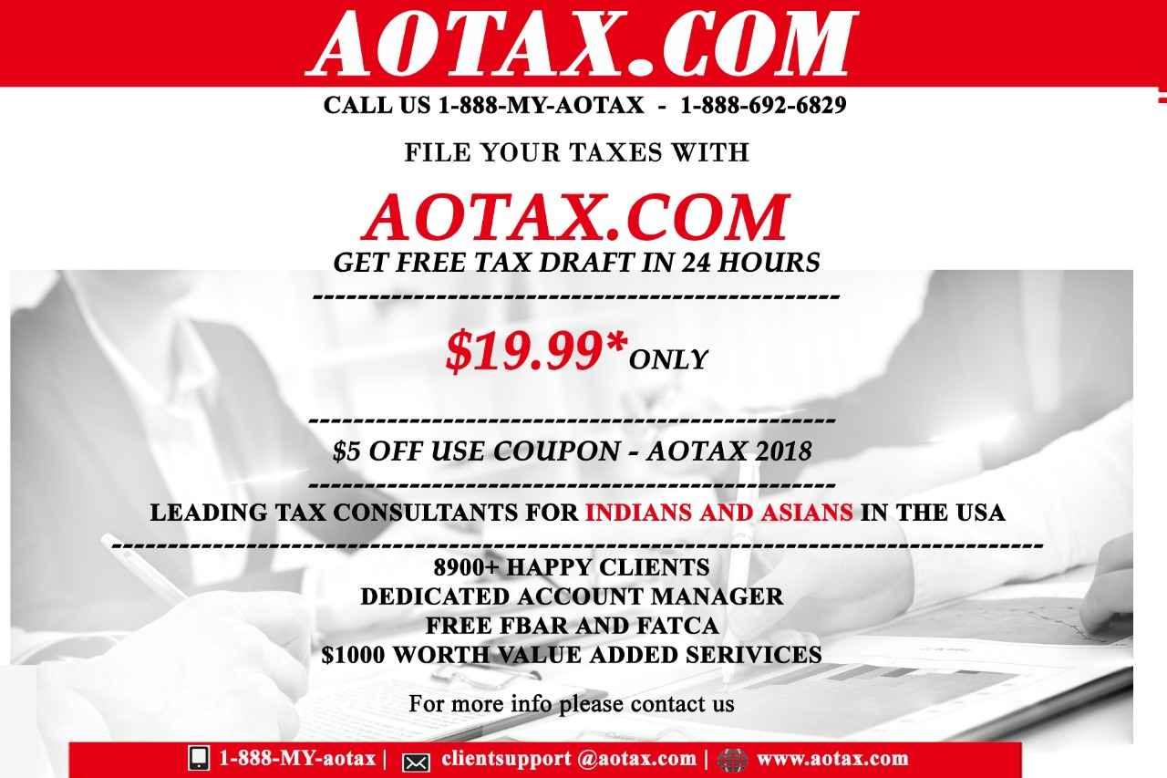FILE YOUR TAXES WITH  AOTAX.COM - CALL US 1-888-MY-AOTAX