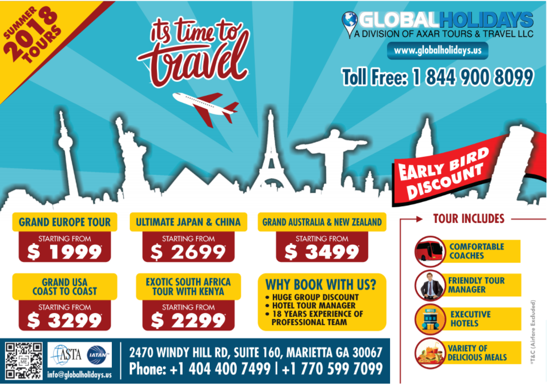 GLOBAL HOLIDAYS USA TOURS & TRAVEL