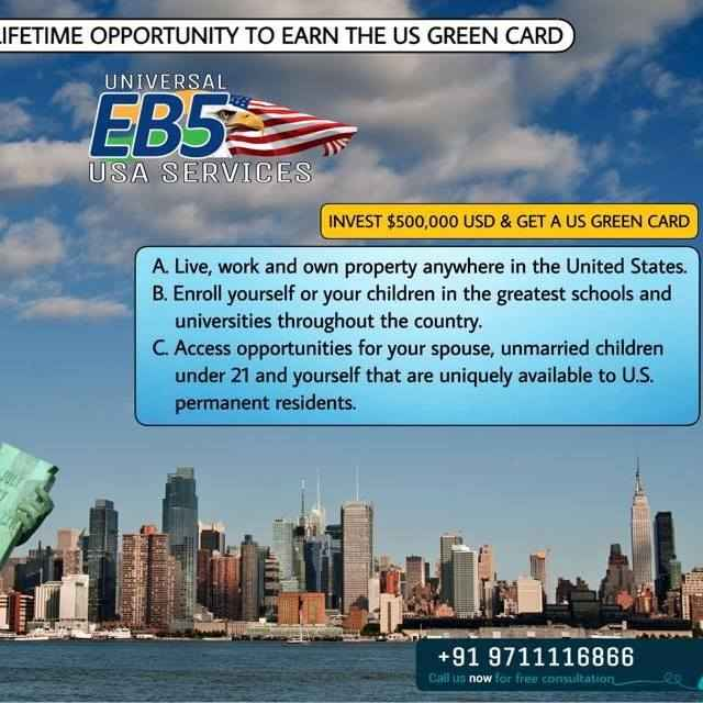 Get a US Greencard with a $500,000 USD - consult with us