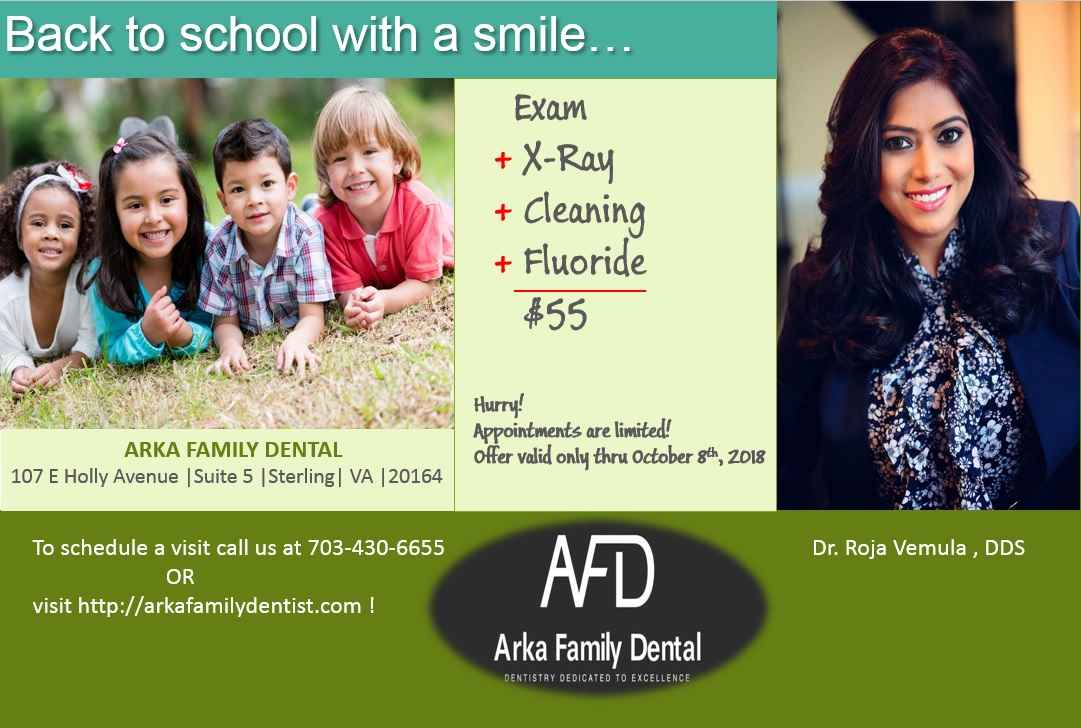 Dr. Roja Vemula, ARKA FAMILY DENTAL