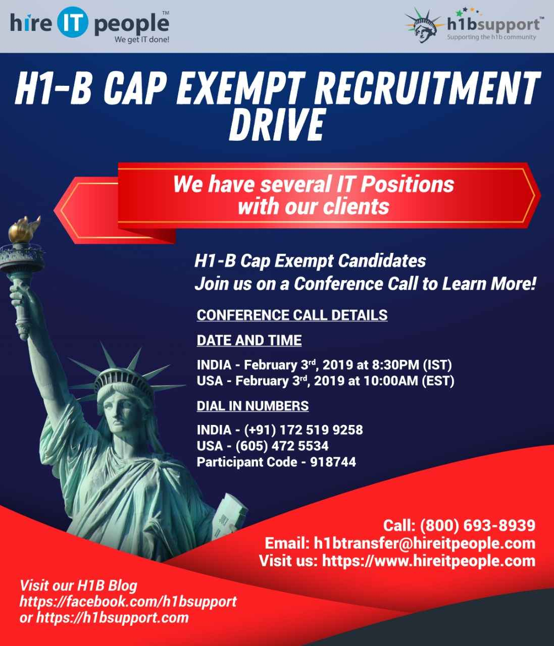 H1-B CAP EXEMPT RECRUITMENT DRIVE