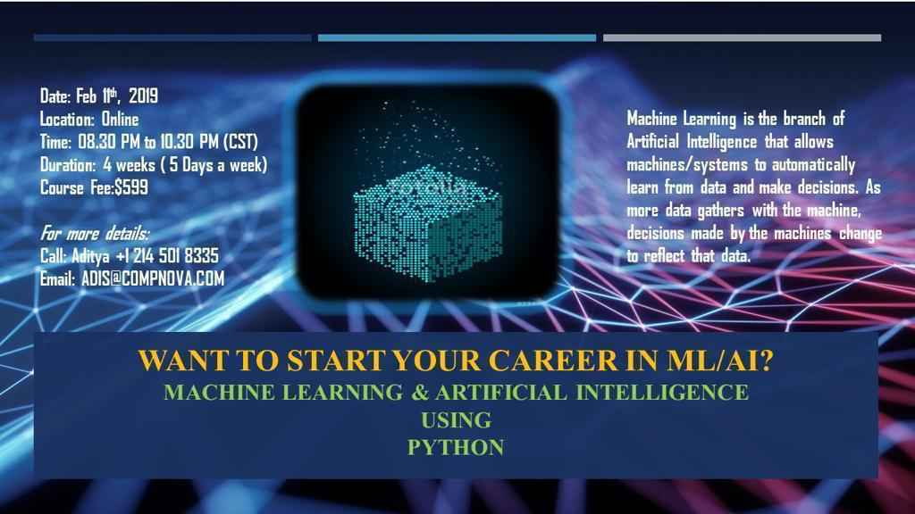 Want To Start Your Career In ML/AI?