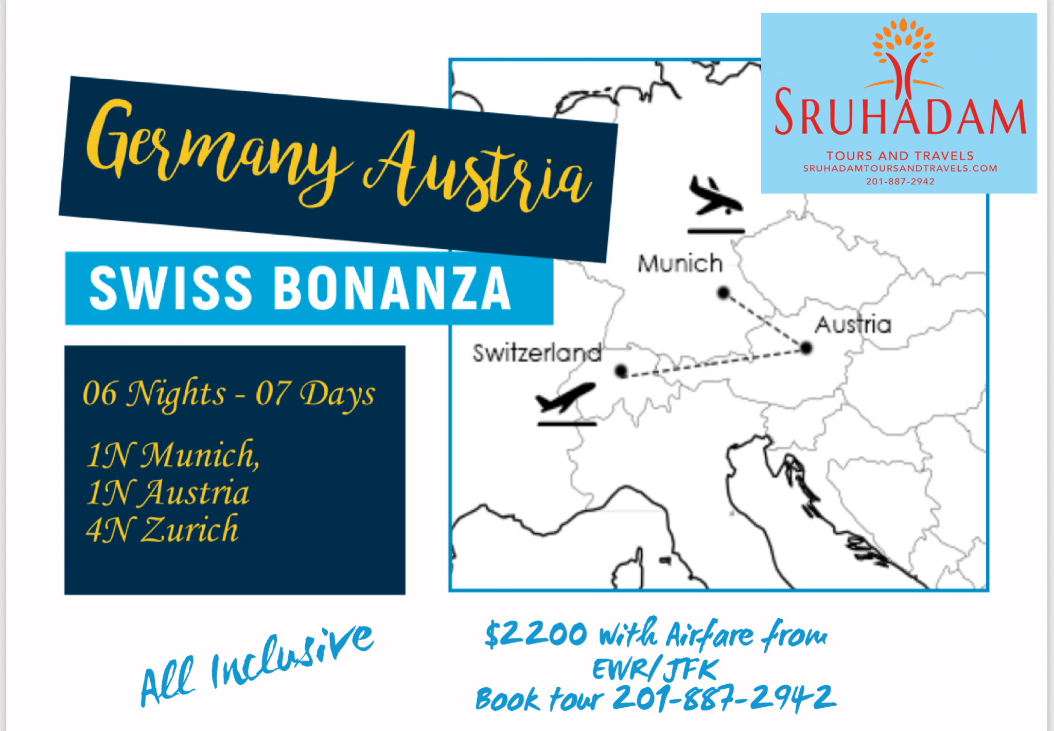 Switzerland and Germany and Austria-7 Days