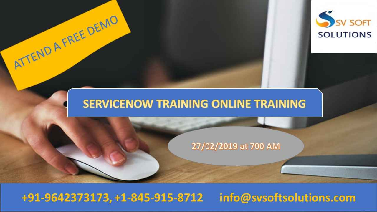 Servicenow Online Training Attend Live Free Demo