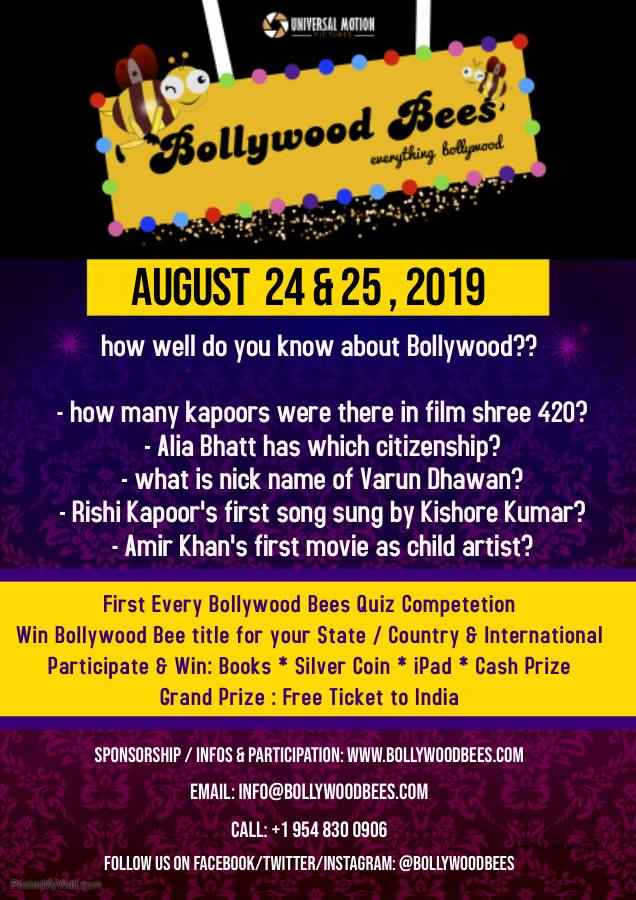 Bollywood Bees Quiz Competition