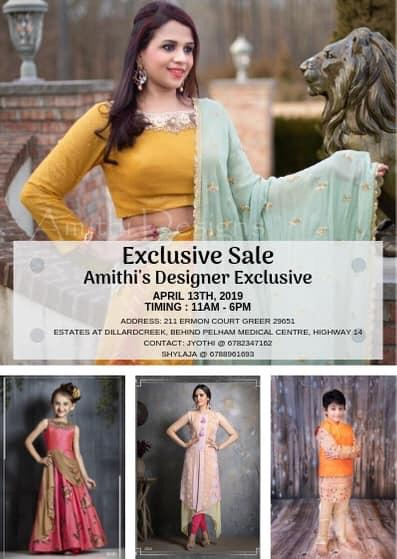 Amithi's Designer Exclusive - Special Sale
