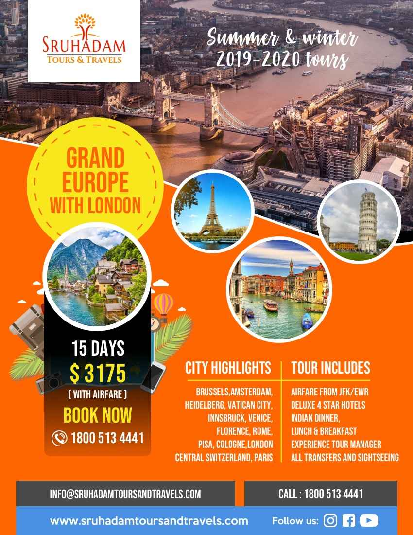 Grand Eurpoe tour with London-15 Days tour