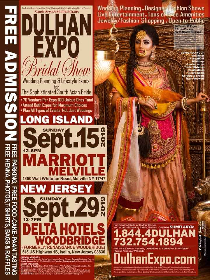 DulhanExpo Sept.29 @ Delta Hotels by Marriott Woodbridge, NJ FREE ADMISSION