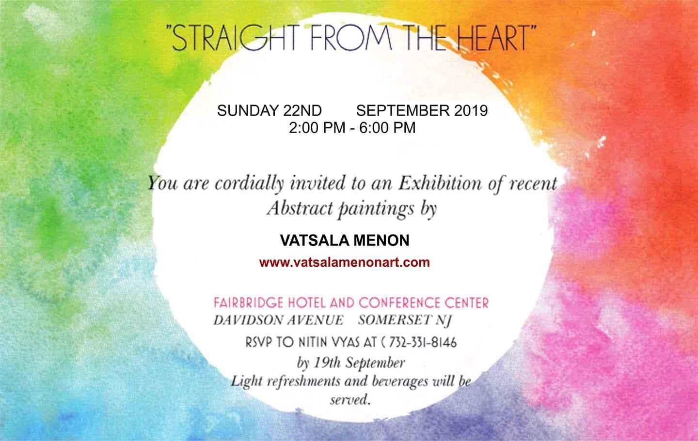 STRAIGHT FROM THE HEART BY VATSALA MENON ART