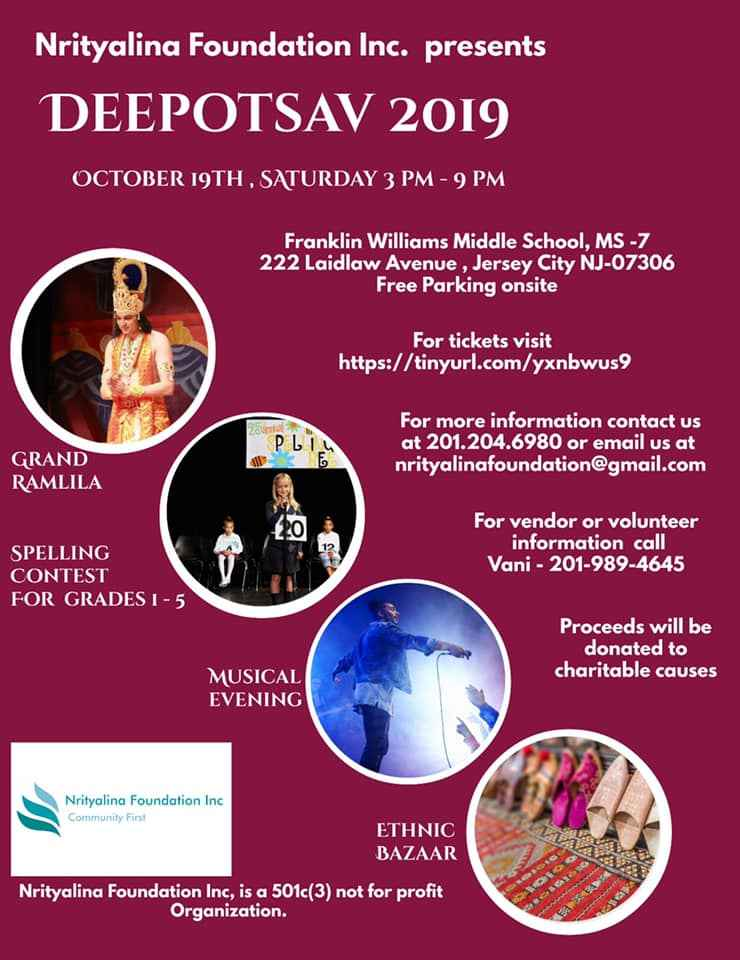 Nrityalina Foundation Inc. Presents - DEEPOTSAV 2019