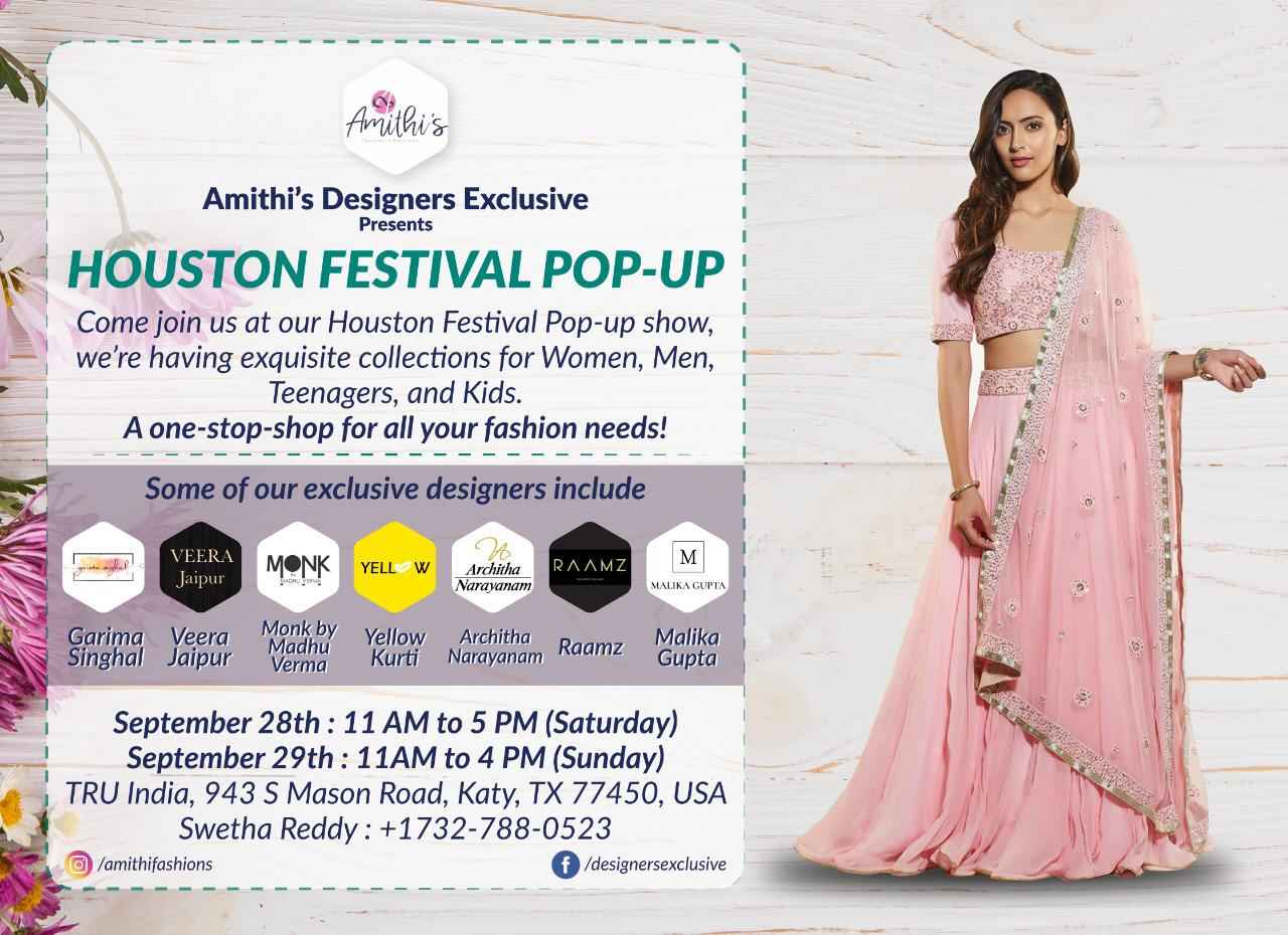 AMITHI'S DESIGNERS EXCLUSIVE Houston Festival POP-UP