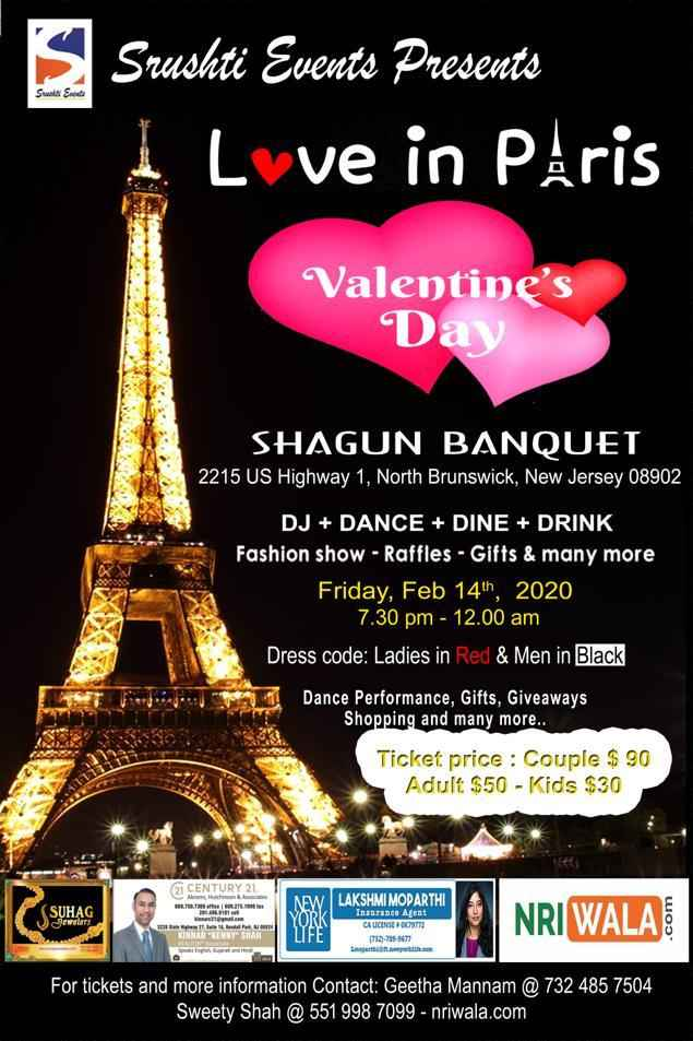 LOVE IN PARIS Valentines Day Party