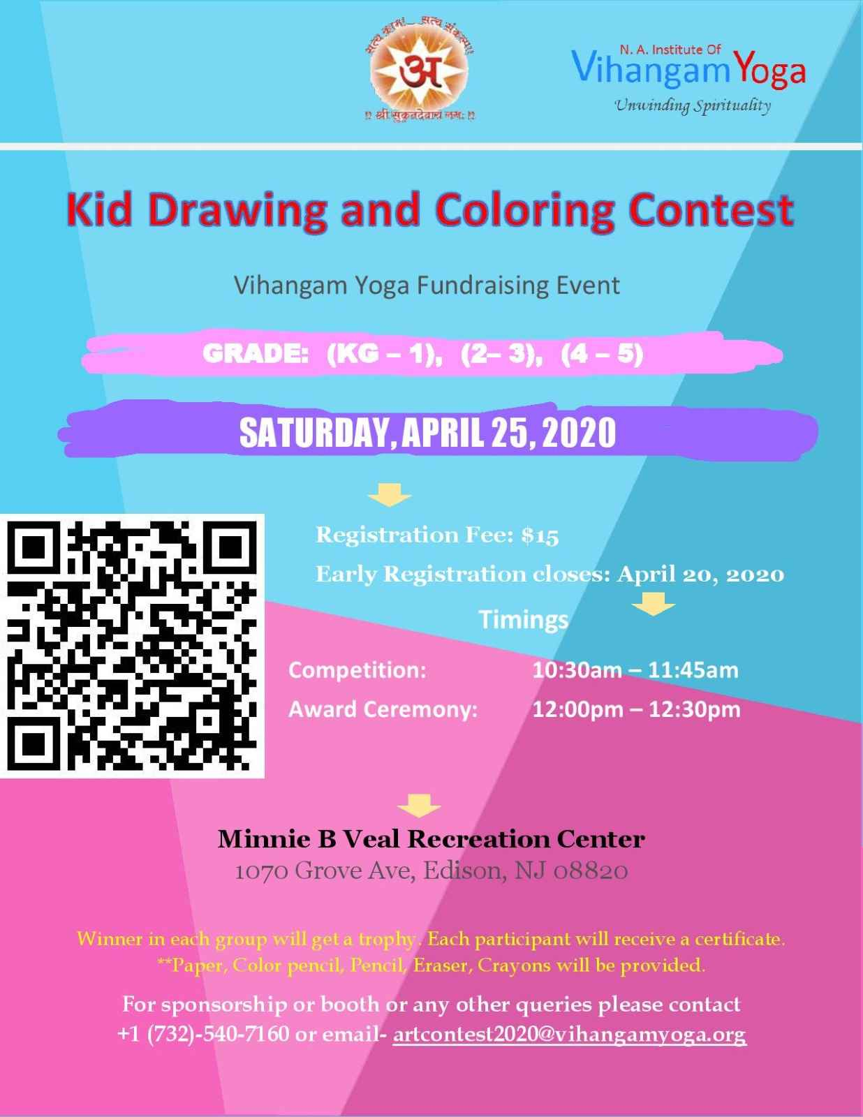 Kid Drawing and Coloring Contest by Vihangam Yoga