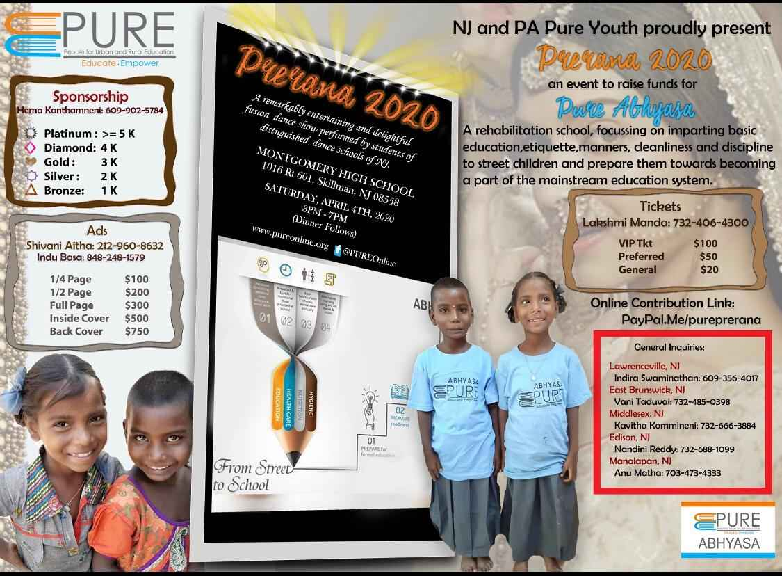 Prerana-2020 In New Jersey By PURE