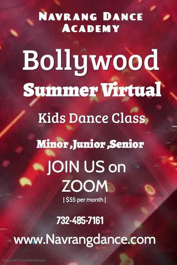 Navrang Dance Academy - Bollywood Summer Virtual Dance Class