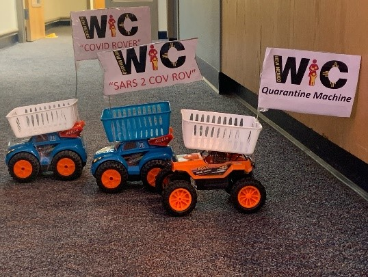 ictured: Remote control rovers that one New Mexico WIC clinic uses during their curbside service.