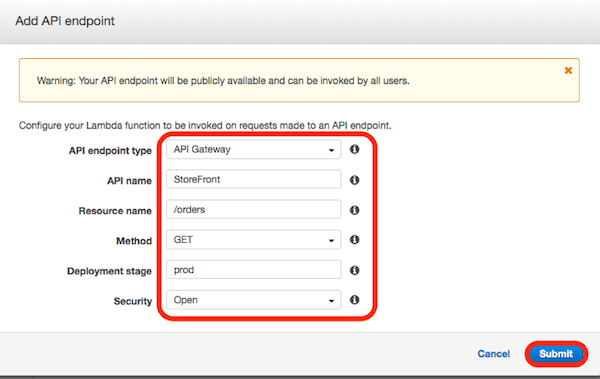 Using API Gateway mapping templates to handle changes in