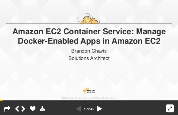 Amazon EC2 Container Service: Manage Docker-Enabled Apps in Amazon EC2 Breakout Slides