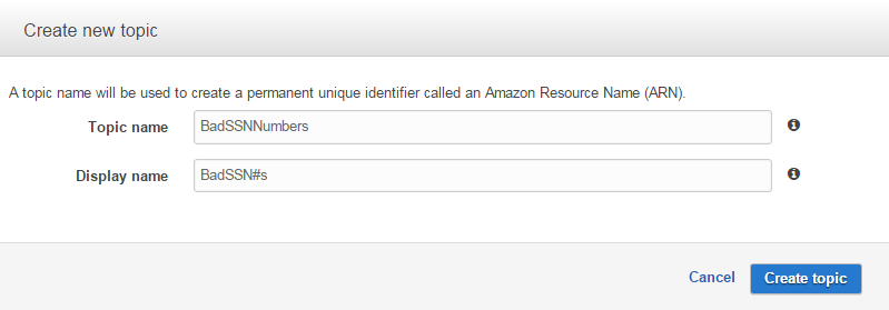 Amazon Simple Notification Service (SNS) Setup: Creating a Topic