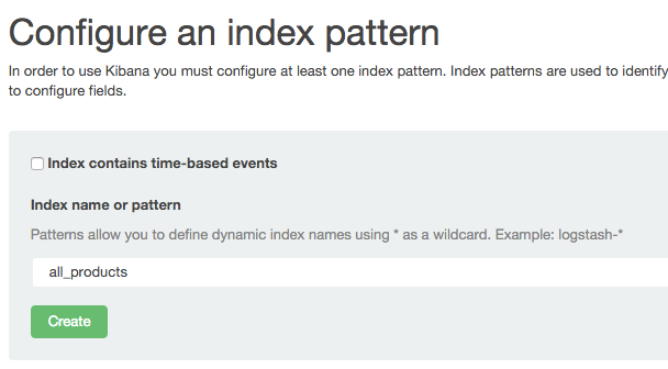 Kibana Index pattern