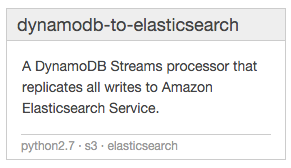 dynamodb-to-elasticsearch blueprint