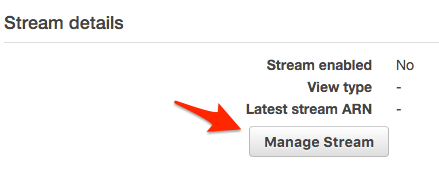 Enabling DynamoDB Streams