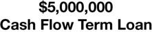 $5 Million Cash Flow Term Loan