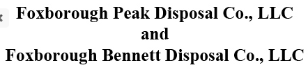 Foxborough Peak Disposal Co., LLC
