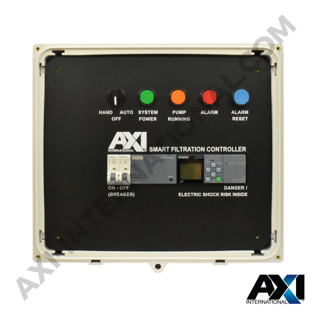 Smart filtration controller for fuel maintenance filter systems.