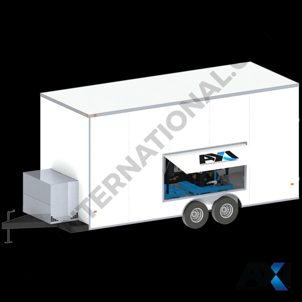 Mobile fuel polishing trailer for bulk diesel tank maintenance by AXI International.