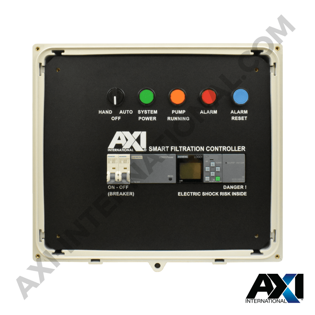 Smart filtration controller for fuel polishing systems.