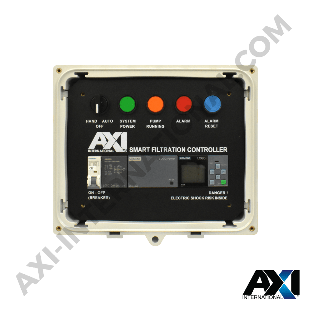 Smart filtration controller programmed for fuel filter maintenance and operational control.